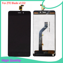 For ZTE Blade X3 D2 T620 LCD Display with Touch Screen Digitizer Assembly Free shipping lcd display with touch screen digitizer assembly for jiayu g4c black free shipping page 8