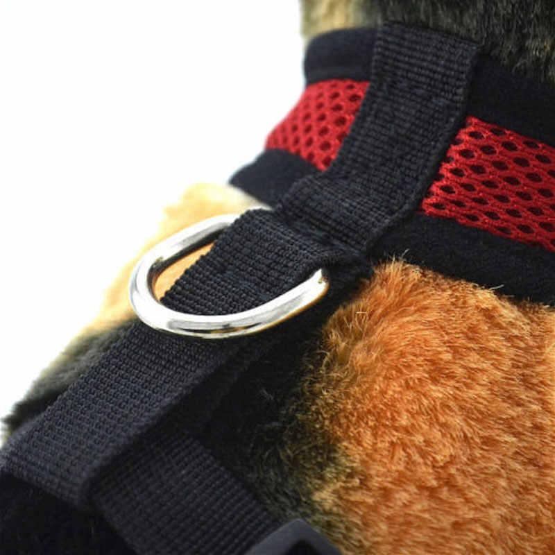 Solide Hund Harness Einstellbare Atmungsaktive Soft Hund Haustiere Kragen Nylon Mesh Weste Harness Für Haustiere Hund Brustgurt Leine Weste seil