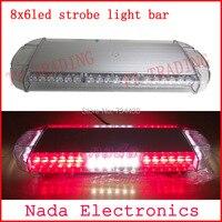 car roof strobe lights 48LED strobe beacon Emergency spot Warning lights led flash light bar with magnet RED BLUE WHITE AMBER