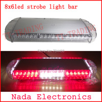 car roof strobe lights 48LED strobe beacon Emergency spot Warning lights led flash light bar with magnet RED BLUE WHITE AMBER