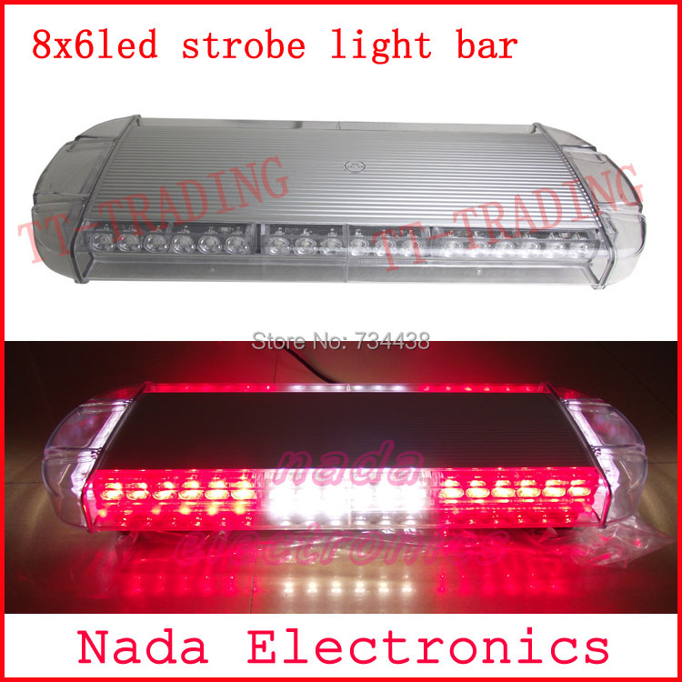 car roof strobe lights 48LED strobe beacon Emergency spot Warning lights led flash light bar with magnet RED BLUE WHITE AMBER 16 led flash lights warning light emergency strobe lights ambulance strobe beacon with magnet amber dc12v 24v