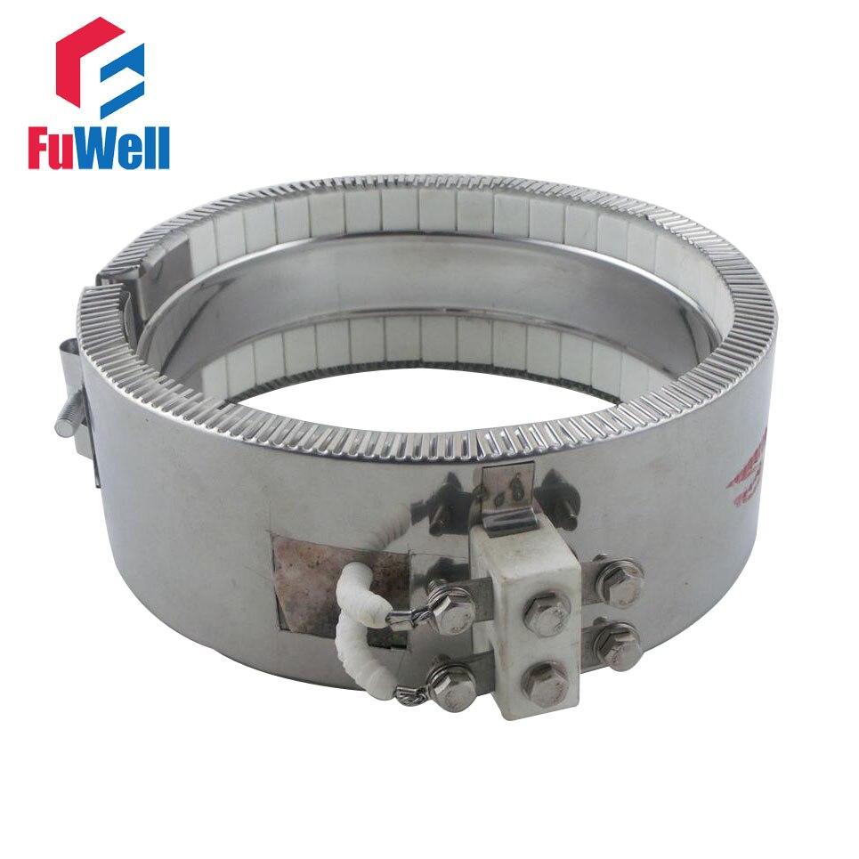 AC 220V 220 Voltage 1500W Ceramic Band Heater 120mm X 80mm Heating Element