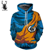 YOJULY Unisex 3D Hoodies Anime Dragon Ball Goku Print Harajuku Hoody Mannen/Vrouwen Fashion Casual Streetwear Grappige Hooded Shirts h10(China)