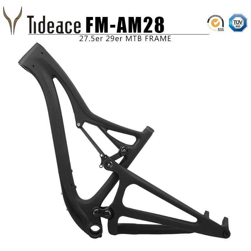 Tideace 29er boost 27.5er plus suspension cadre 29er XC full suspension Cadre carbone Vtt Cross-country