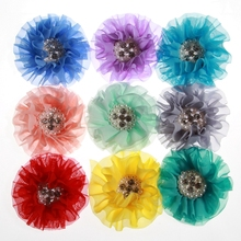 Artificial-Flower Wedding-Invitation Dress-Decoration for 5PCS 10CM Chiffon Newborn