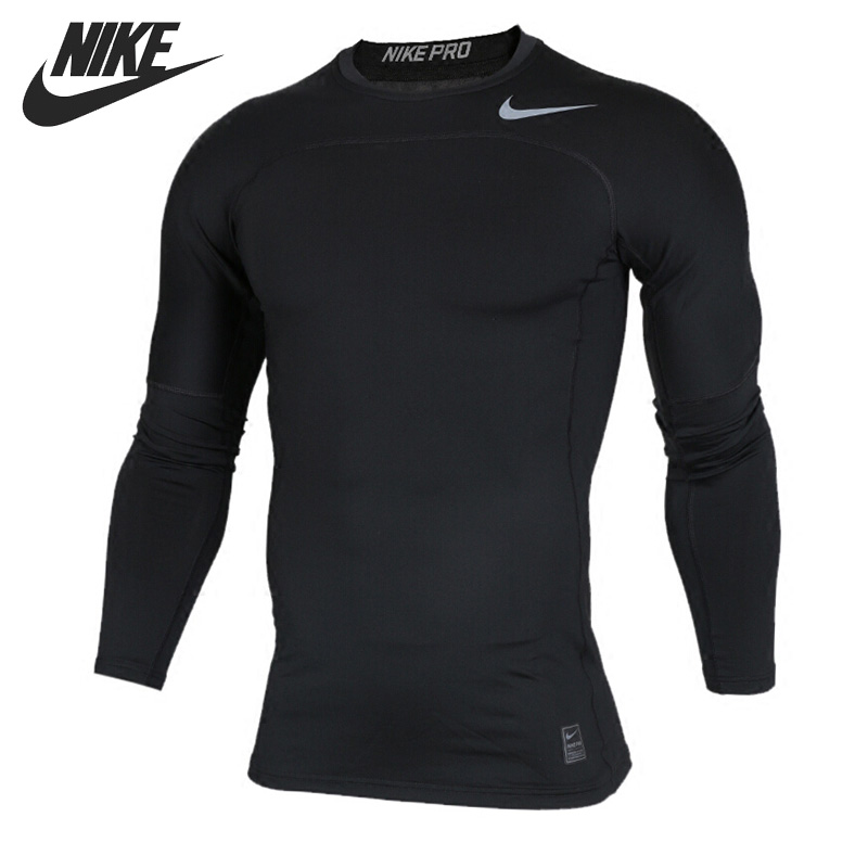 Original New Arrival NIKE AS M NP HPRWM TOP LS COMP Men's T-shirts Long sleeve Sportswear original new arrival 2017 nike as m np hprwm top ls comp men s t shirts long sleeve sportswear