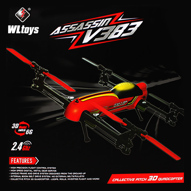 2015 New arrival 100% original <font><b>WLtoys</b></font> <font><b>V383</b></font> profession drone 500 Electric 3D 6CH RC Quadcopter with Brushless Motor image