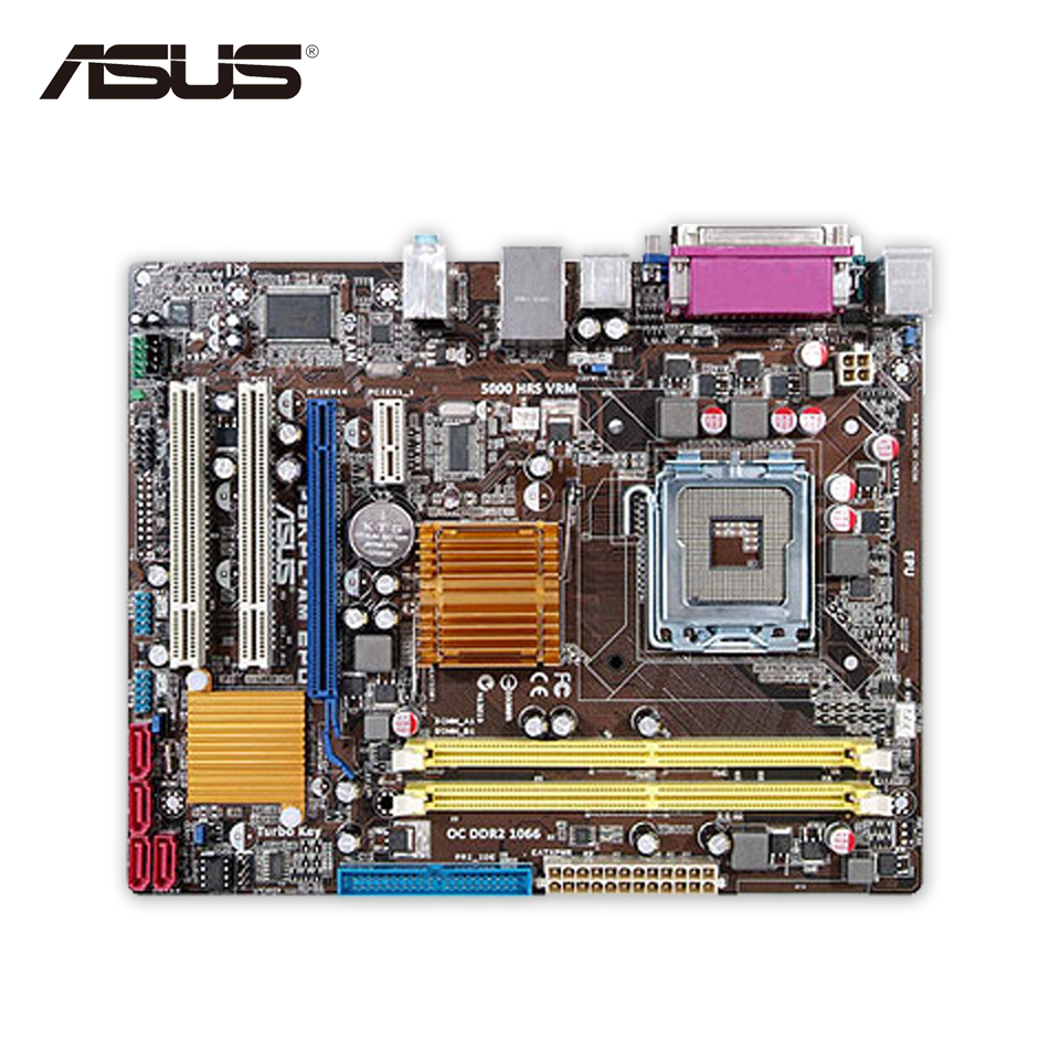 Asus P5KPL-AM EPU Original Used Desktop Motherboard G31 Socket LGA 775 DDR2 4G SATA2 USB2.0 uATX original used asus p5kpl desktop motherboard g31 socket lga 775 ddr2 sata2 atx 100% fully test