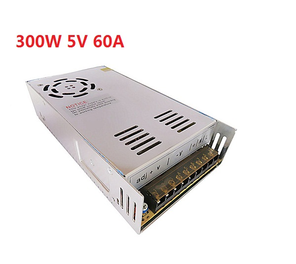 Best quality 5V 60A 300W Switching Power Supply Driver for LED Strip AC 100-240V Input to DC 5V free shipping ac 85v 265v to 20 38v 600ma power supply driver adapter for led light lamp