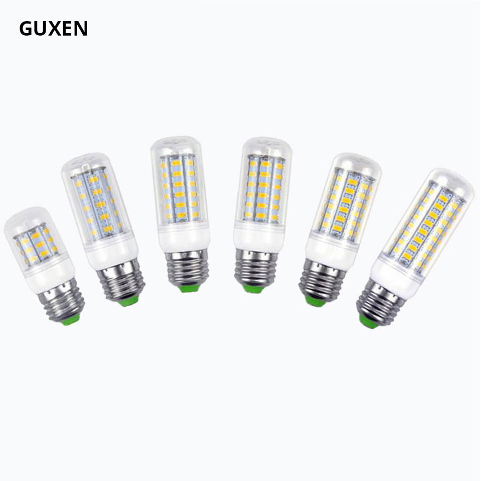 Mini E27 Led Corn Lamp SMD 5630 Chip 24/36/48/56/69/72leds AC110V 220V Led light 360 beam angle for droplight ...