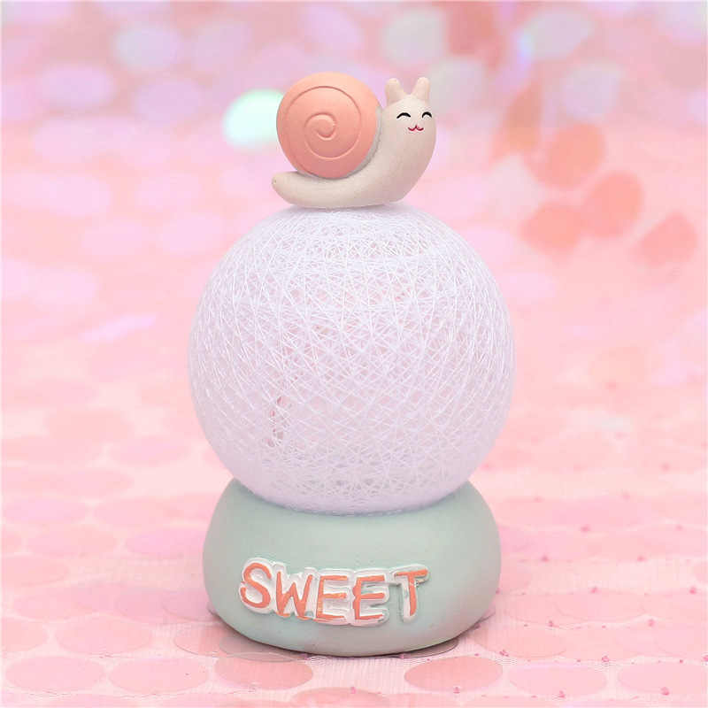 Creative Table Lamp kids Night Light Girl Heart Room Decoration Crafts Cogwheel Time Rattan Ball Lamp Atmosphere Lamps Gift