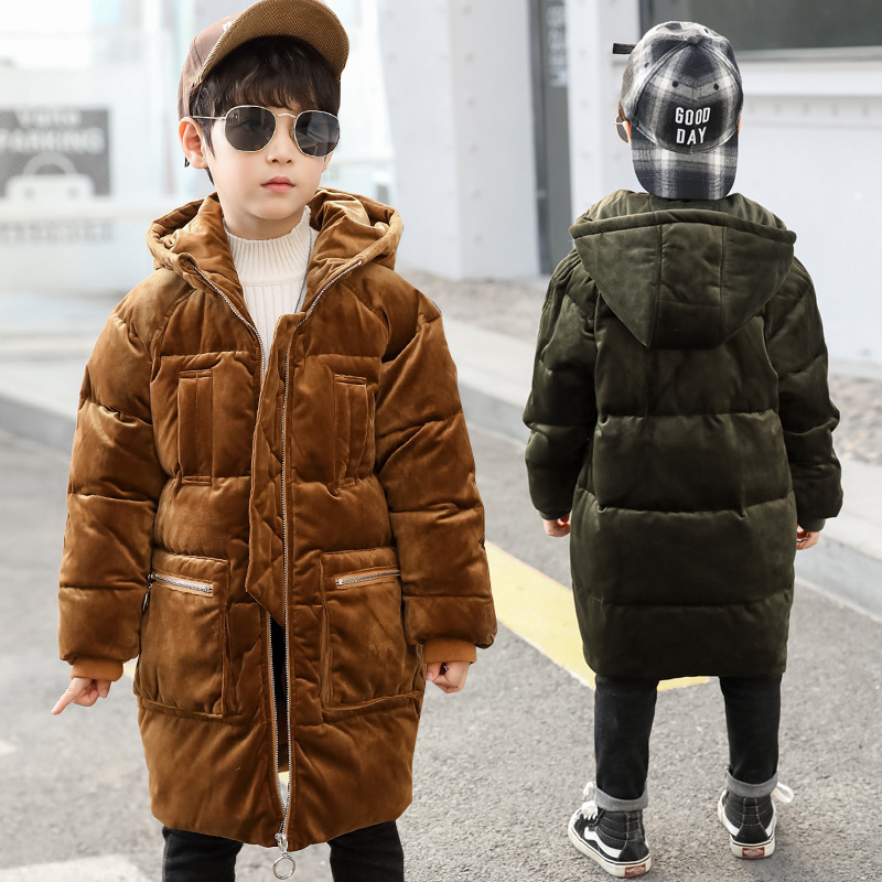 -30 Degrees Boys Clothing Cheap Warm Down Jacket For Teenagers 2018 New Winter Thicken Parka Hooded Children Outerwear Coats 12 2018 girls clothing warm down jacket for girl clothes 2018 winter thicken parka real fur hooded children outerwear snow coats