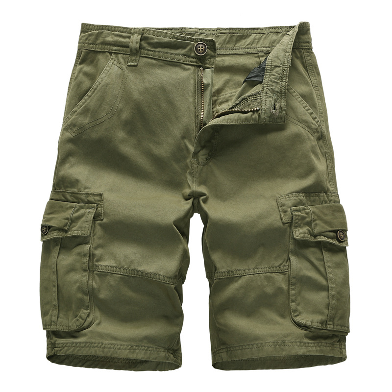 100% Cotton Military Cargo Shorts Men 2019 New Arrival Casual Mens Loose Work Male Summer Short Pants hombre
