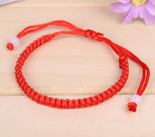 Hot Wholesale Fashion Jewelry 50pcs Handmade  Braided Beads Lucky Red String Charm Woman Good Bracelets&Bangle Free S378