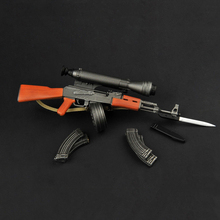 1:6 Scale TOYS ZY2007 1/6 Plastic Gun Model AK47 Weapon Toy with Knife model Accessories for 12 Action Figure