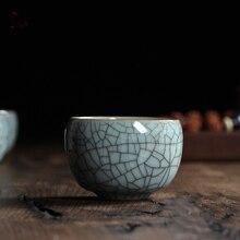 Knistern Glasur tee tassen Celadon Teetasse Longquan Chinse Kung Fu tasse/Binglie glasur tassen/kleine tee schüssel tee set