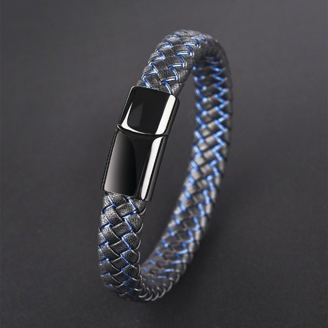 Men's Magnetic Clasp Leather Bracelets