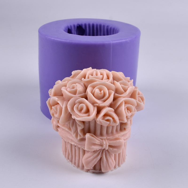 3D Silicone Candle Mold a Bunch of Flower Shaped Craft Handmade Soap Mould