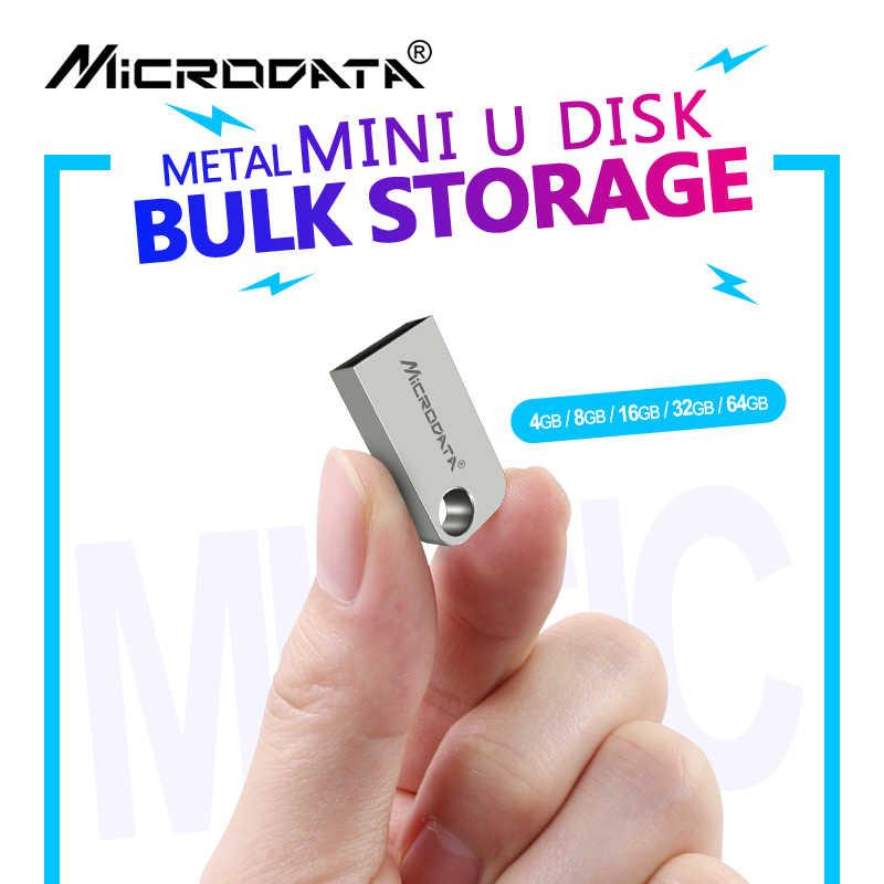 En gros étanche Mini métal USB lecteur Flash disque 64GB 32GB 16GB 8GB 4GB micro mémoire bâtons argent clé usb disque