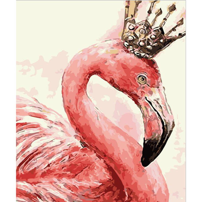 Flamingo Oil Painting By Numbers On Canvas DIY Handpainted Romantic Painting Coloring By numbers New Year Home Decor  HQ hearth