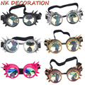 NK DECORATION Kaleidoscope Goggles Steampunk Punk Gothic Kaleidoscopic Cosplay Glasses For Halloween Carnival Party Mask