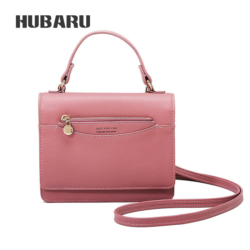 HUBARU Women Shoulder Bag Retro Female Mini Messenger Bag Girls Clutch Quality PU Leather Handbag Mini Tote Small Crossbody Bag