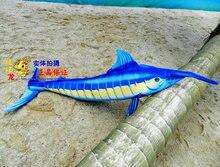 longest new plush tuna toy blue fish doll simulation tuna doll gift about 155cm