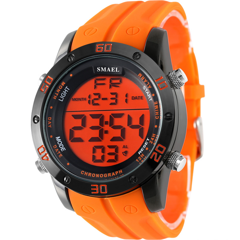 2016 New Brand Sport Watch Men Military Sports Watches Fashion Silicone Waterproof LED Digital Watch For