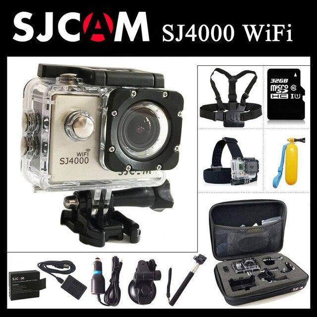 """Оригинал SJCAM SJ4000 WiFi Камера Действий 2.0 """"ЖК-Экран Спорт DV 1080 P HD Подводные 30 М Водонепроницаемый мини-Видеокамеры SJ 4000 Cam"""