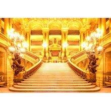 MEHOPHOTO a besta ZH242-Z castelo de conto de fadas fundo cenários de fotografia vinil para estúdio de fotografia de casamento interior