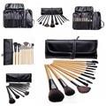 12 Pcs Pincéis de Maquiagem Fundação Sombra de Olho maquiagem Highlighter Batom Matte Pó Makeup Palette Pro Beleza Com Caso Saco