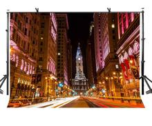 7x5ft Night View Backdrop Modern City Street Photography Background Studio Props
