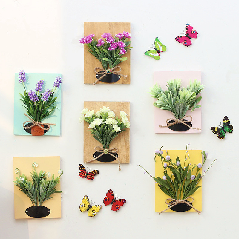 Three-dimensional simulation floral plant wall decoration American creative home living room fake flower wa