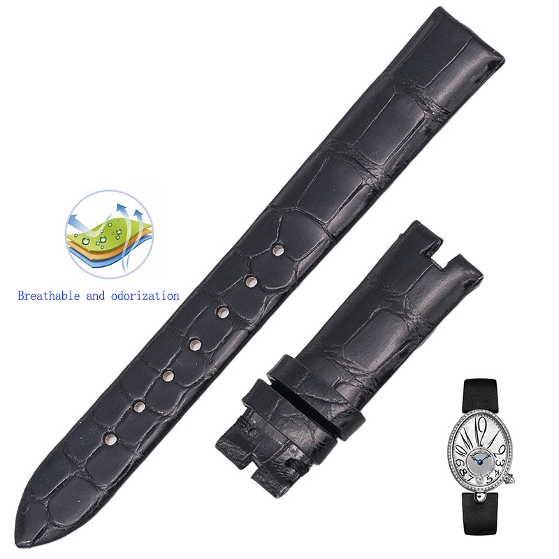 Suitable for Naples Queen's series silk silk strap, custom crocodile skin women's watch strap. naples