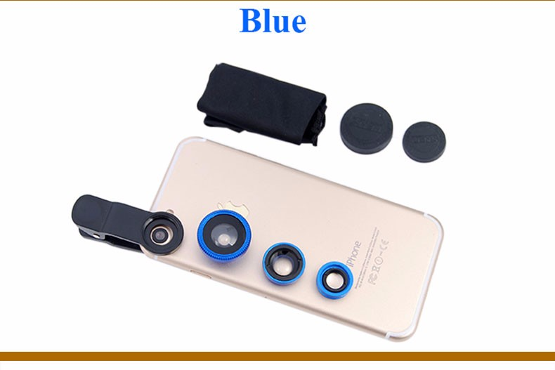 New Fish Eye lens,Wide Angle + Clear Macro Lens For Iphone 5s 6 7 Universal 3 in 1 Phone Camera Len For Sansung Huawei Sony HTC 22
