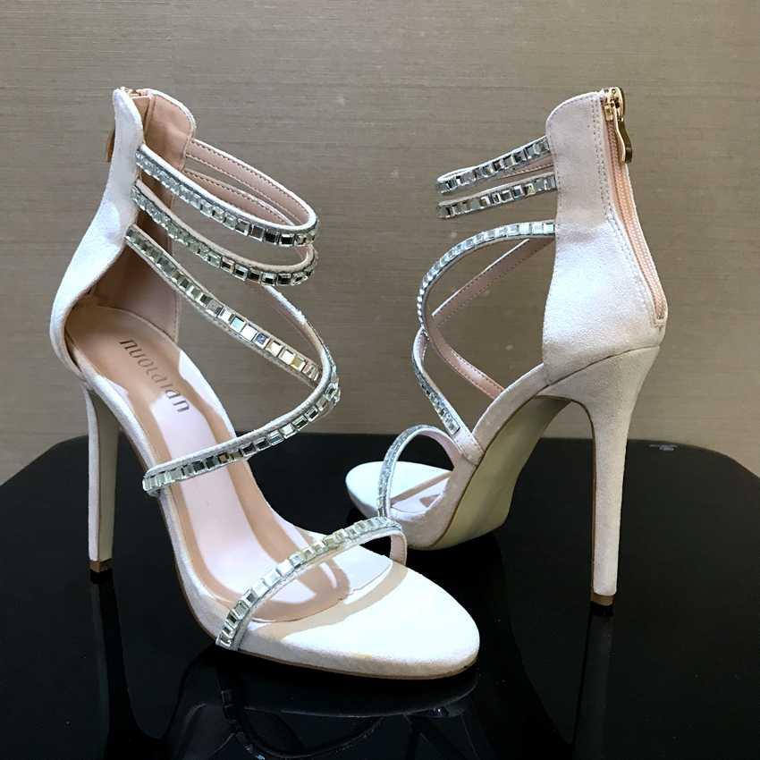 054cf480e8 Brand Sexy Crystal Platform Shoes Woman Sandals Womens Pumps High Heels  Women Wedding Ladies Thin High Heel Shoes Open Toe 12cm