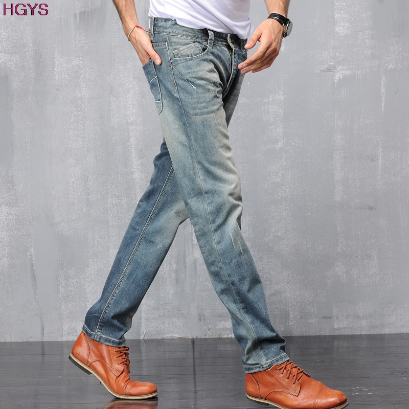 new 2017 cotton jeans male Nostalgic tide restoring ancient ways in Europe and the loose Joker straight trousers the new spring and summer 2016 spin lock tide restoring ancient ways contracted one shoulder hand his small bag free postage