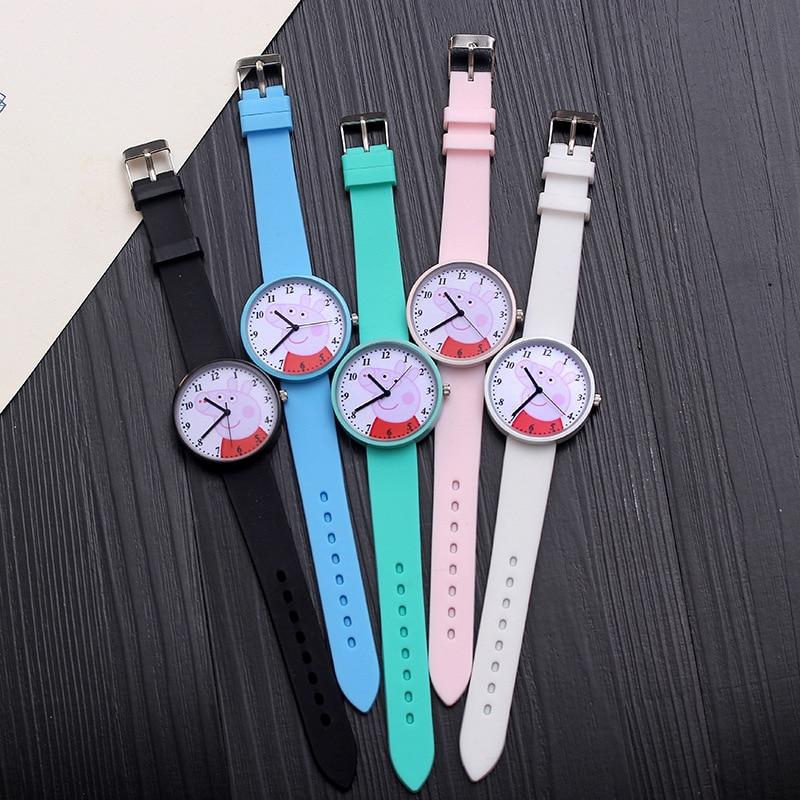 New Hot Śliczne Świnka Peppa Cartoon Kobiet Zegarek Moda Silikonowy - Zegarki damskie - Zdjęcie 5