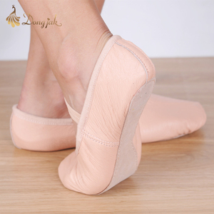 Image 2 - Canvas Flat Slippers White Pink White Black salsa Ballet Shoes For Girls Children Woman Yoga Gym According The CM To Buy