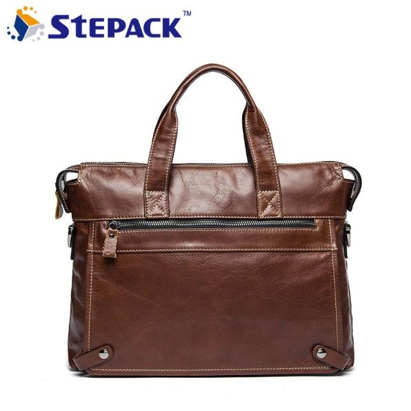 New Brand Genuine Leather Men Shoulder Bags Vintage Male Breifcase Bag Laptop Business Bag Leisure Style Handbag WMB0109