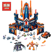 Lepin 14037 Nexoinglys Anime Knights Movie Knighton Castle Model Building Blocks Kits Bricks 70357 Children Game