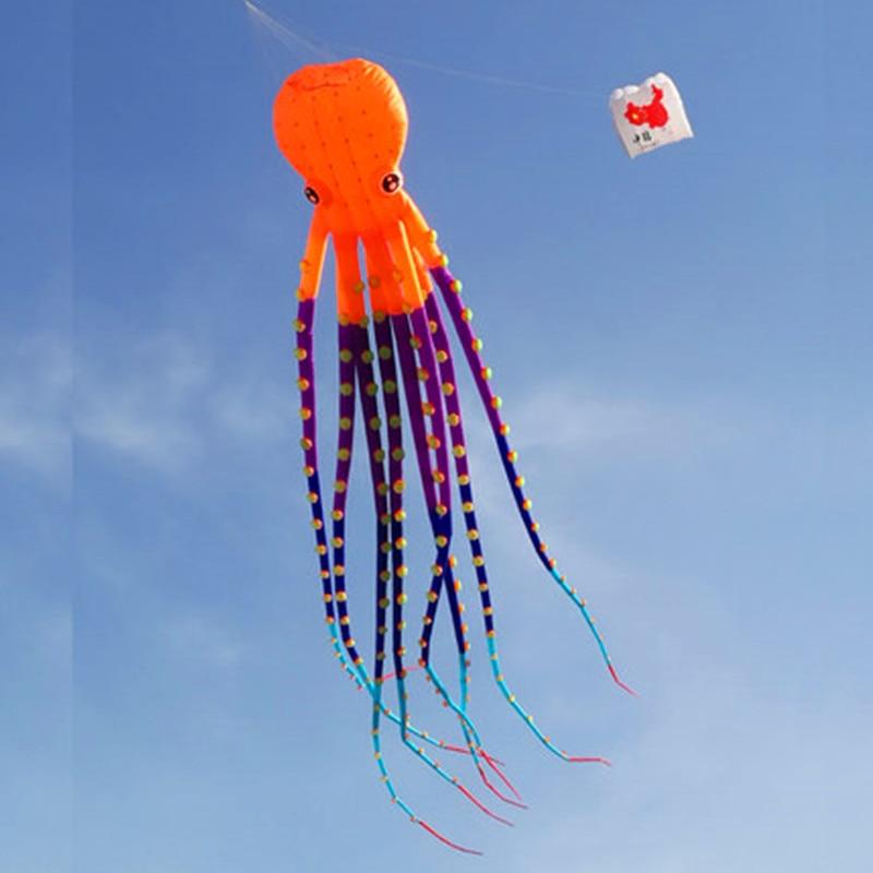 Livraison gratuite grand pieuvre cerf-volant pendentif ripstop nylon tissu alien cerf-volant gonflable pour adultes 3d cerf-volant buggy kitesurf conseil cerf-volant