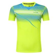Теннисные футболки, детские/мужские/женские футболки для бадминтона, быстросохнущая футболка для настольного тенниса с круглым вырезом, одежда для бадминтона с короткими рукавами