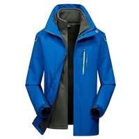 Winter Warm Outerwear Casual Hoodie Coat Jacket Military Tactical Fleece Red Blue Black Jacket Men 2 Pieces Clothes Windbreaker