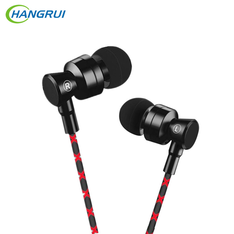 HANGRUI USB Type-C Earphone Super Bass In Ear earphones with mic Headset Stereo Earbuds For Xiaomi Mi6 Letv 2 for Hammer nut PRO