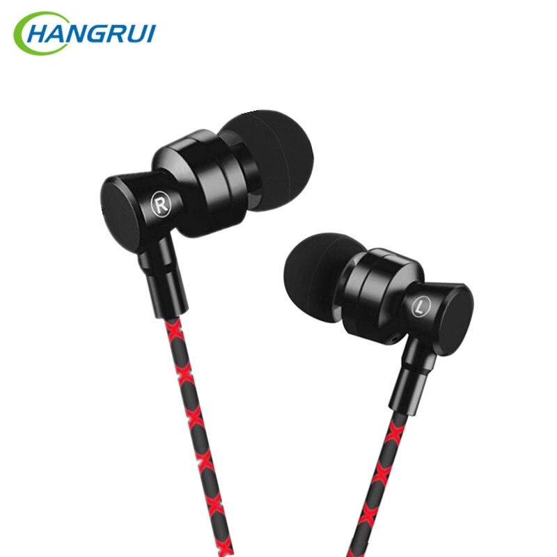 HANGRUI USB tipo C auriculares Super Bass en la oreja los auriculares con micrófono auriculares estéreo para Xiaomi Mi6 Letv 2 Para martillo tuerca PRO