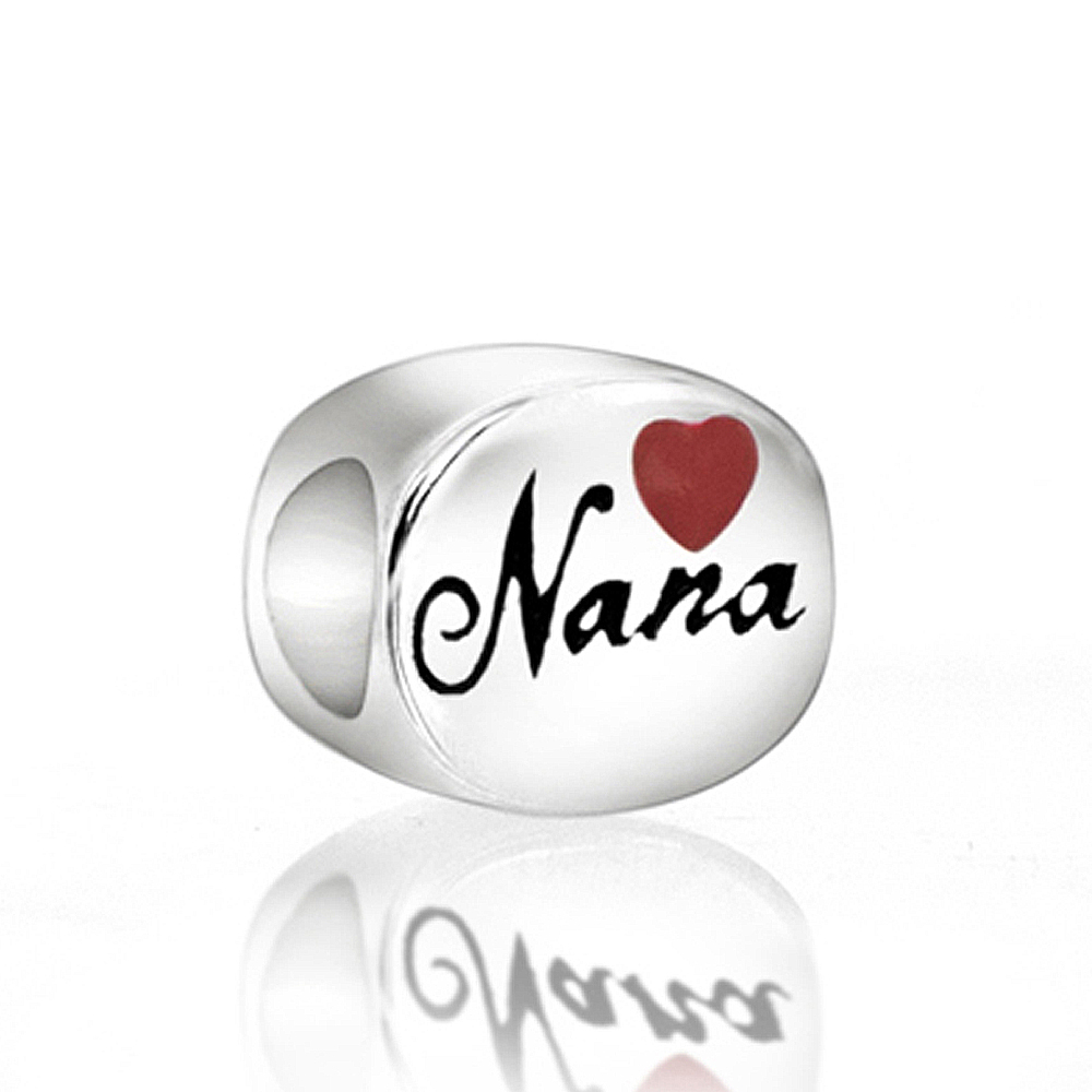 3576feb84 Red Heart Nana Enamel 100% 925 Sterling Silver Charm Beads Fit European  Charms Bracelet M-in Beads from Jewelry & Accessories on Aliexpress.com    Alibaba ...