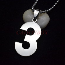 Buy number 3 pendant and get free shipping on aliexpress cataye classic high polished lucky number 3 stainless steel mozeypictures Images