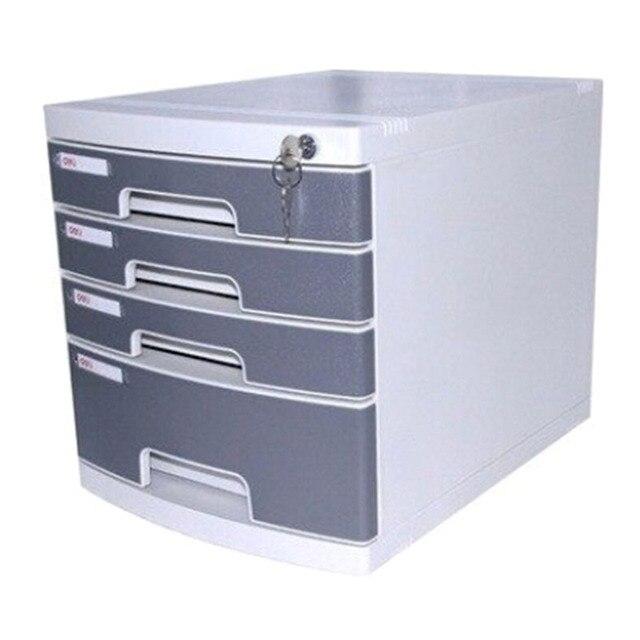 Charmant File Cabinet Four Hard Plastic Belt Lock Desktop File Cabinet 4 Level Data  Cabinet KB8519