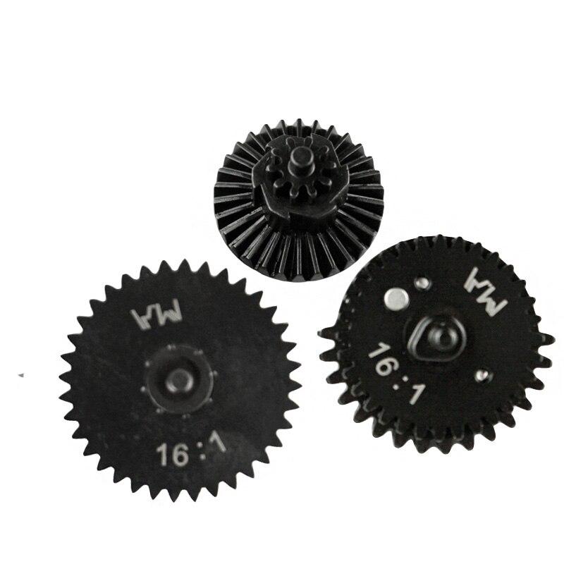 Equipo de alta velocidad de corte de acero CNC 16:1, nuevo diseño, para caja de cambios AEG Airsoft Ver.2 / 3